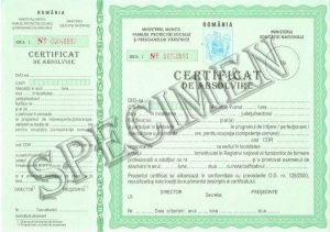 GDPR- Specimen diploma